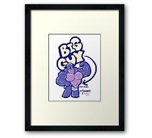 BIG GUY - TINY TOWEL Framed Print