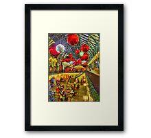 Christmas Covent Garden 2011 - HDR Framed Print