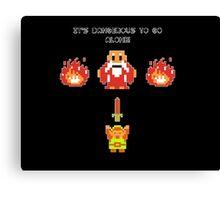 It's Dangerous To Go Alone - Legend of Zelda Canvas Print