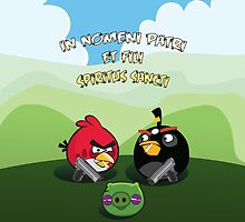 Angry Birds Boondock Saints iPhone by drewblack9