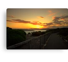 north head manly -while you walk Canvas Print