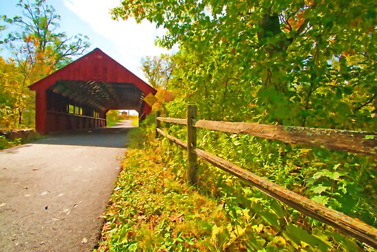 Stony Creek Covered Bridge by JohnDSmith