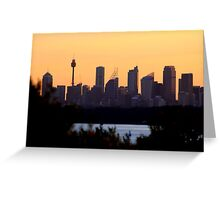 north head manly - city behind the ocean Greeting Card