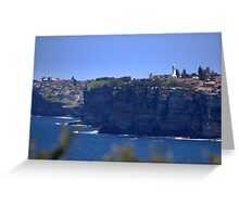 north head manly -  north see south Greeting Card