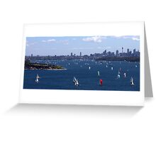 north head manly - sail away.... Greeting Card