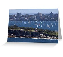 north head manly - fun in the sun Greeting Card