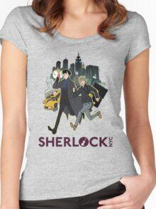 Sherlock NYC - Day (Purple Logo) Women's Fitted Scoop T-Shirt