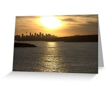 north head manly - summer sunset Greeting Card