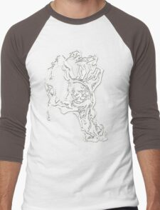 handed zombies Men's Baseball ¾ T-Shirt