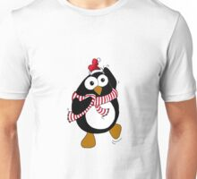 Funny Christmas penguin dancing in the Antarctic.  Unisex T-Shirt