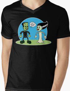 Frankenstein: We Belong Dead Mens V-Neck T-Shirt