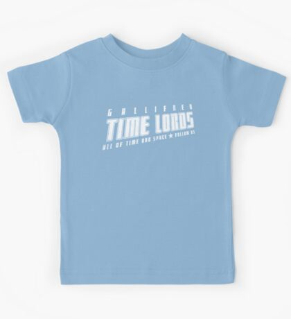 Gallifrey Time Lords (just words) Kids Tee