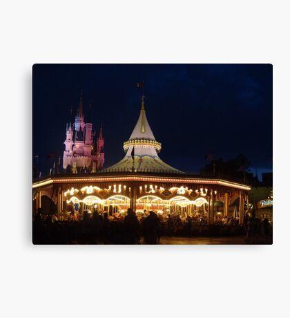 Prince Charming's Regal Carrousel Canvas Print