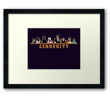 Greendale Halloween (Season 2) - Community  Framed Print