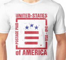 Postage Paid USA Unisex T-Shirt