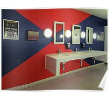 Washroom Blues…and Reds Poster