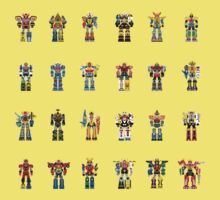 A History of Megazords Kids Tee