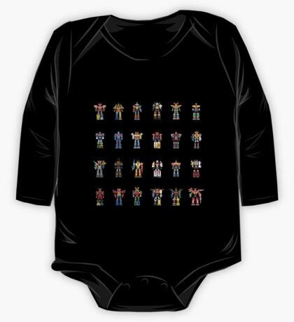 A History of Megazords One Piece - Long Sleeve