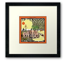 Elegant Rendezvous by Ro London - Menagerie Collection Framed Print