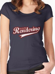 Not slacking, Rendering Women's Fitted Scoop T-Shirt
