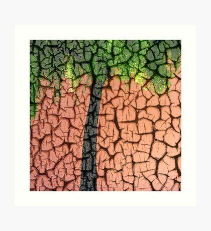 Craquelure Tree Abstract Art Print