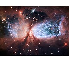 Space Angel - Merry Christmas from Hubble Photographic Print