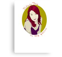 Felicia Day is My Queen Canvas Print