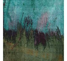 Abstract in Blue, Green and Black Photographic Print