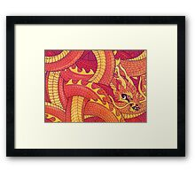 Coiled Dragon Framed Print