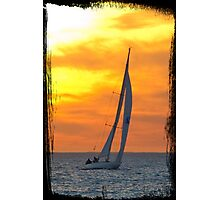 Sailing at sunset Photographic Print
