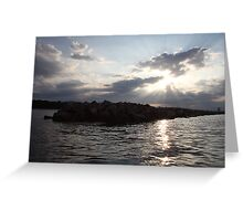 South Shore Clouds  Greeting Card