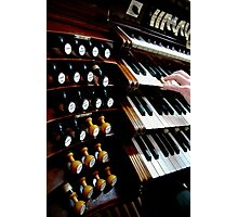 Organist and keyboards Photographic Print