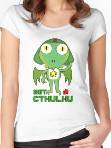 Sergeant Cthulhu (English version) Women's Fitted Scoop T-Shirt