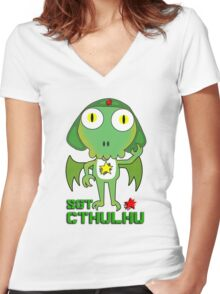 Sergeant Cthulhu (English version) Women's Fitted V-Neck T-Shirt