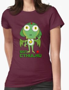 Sergeant Cthulhu (English version) Womens Fitted T-Shirt