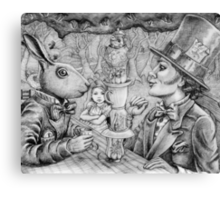 a mad tea party Canvas Print