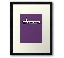 Gosh I Love Arrows Framed Print