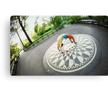 Yoga at the Imagine Circle, New York Canvas Print