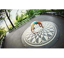 Yoga at the Imagine Circle, New York Photographic Print