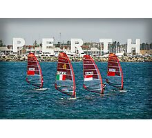 Sailboarders at Bathers Beach Photographic Print