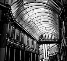 LeadenHall Market  London Black And white by DavidHornchurch