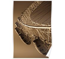London Eye Abstract View Antique Effect Image Poster