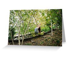 Yoga at the High Line Park, New York Greeting Card