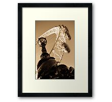 London Eye And street Lamp With serpent Framed Print