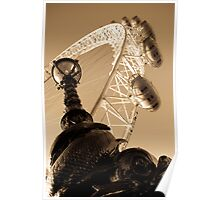 London Eye And street Lamp With serpent Poster