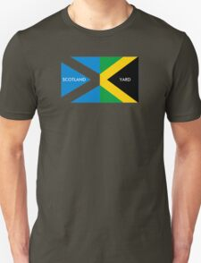 Scotland Yard jamaica flag kingston funny parody T-Shirt