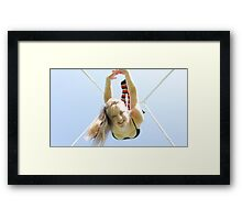 Trapeze Over Norway Framed Print