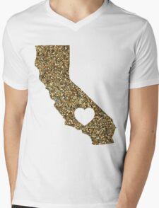 California + Glitter Mens V-Neck T-Shirt