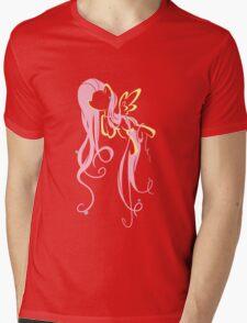 Flowery Flutter Mens V-Neck T-Shirt