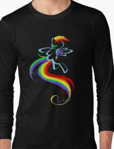 Flowing Rainbow Long Sleeve T-Shirt